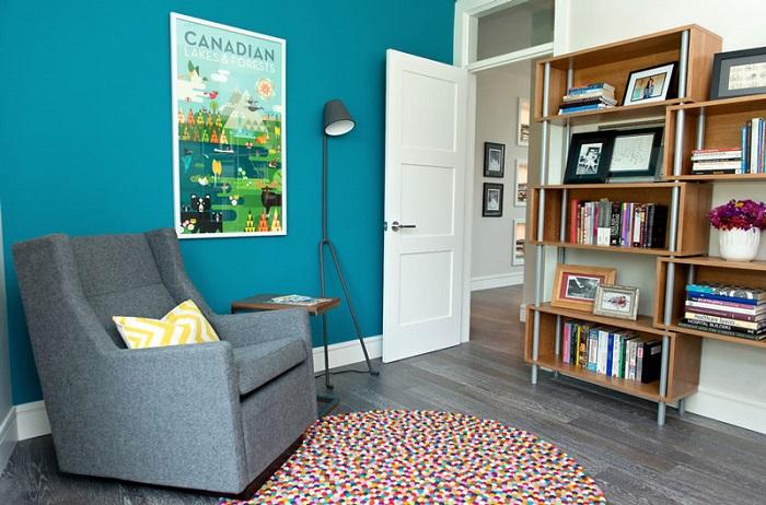 alfombra de pompones sala