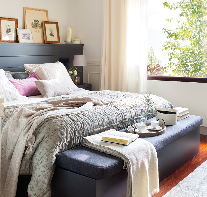 Banquetas para dormitorios vers tiles pr cticas y muy elegantes - Banquetas dormitorio ...