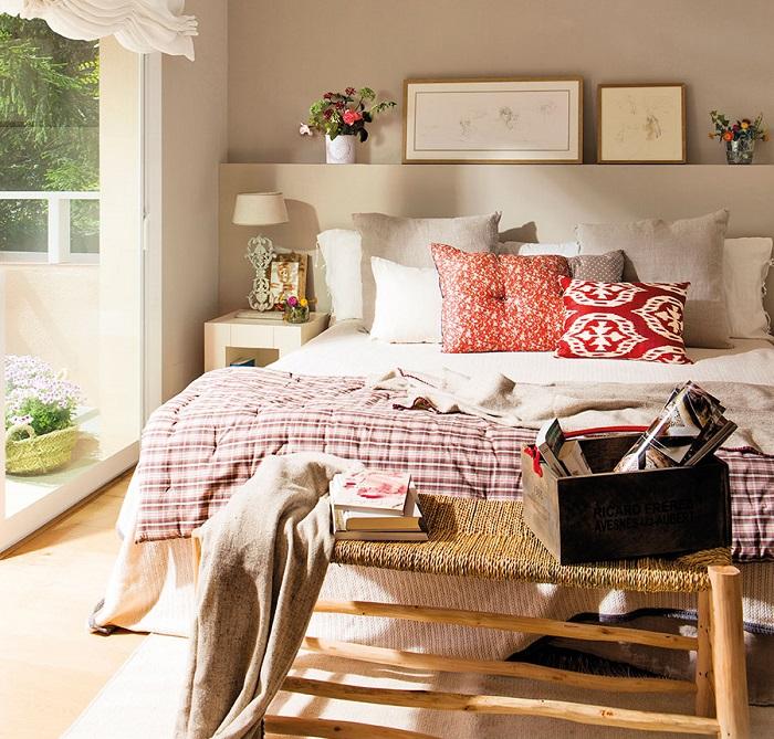 banqueta rústica dormitorio