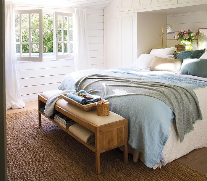 Banquetas prácticas de dormitorio
