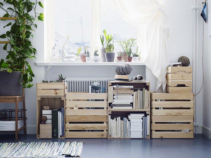 cajas de madera decorar