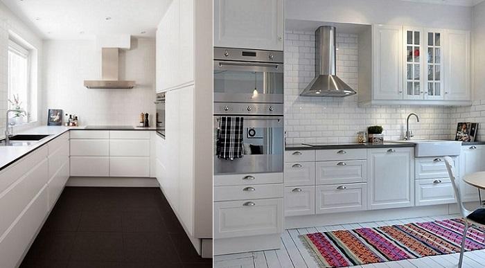 cocinas blancas nordicas
