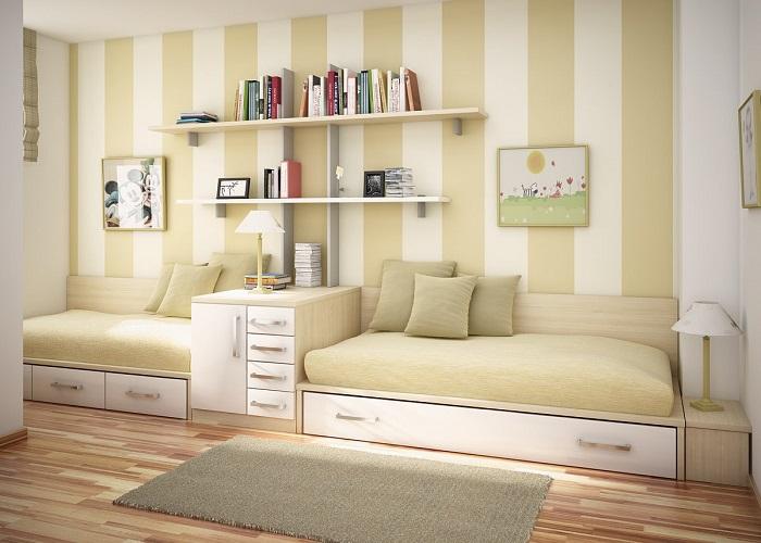 colores en la habitación juvenil