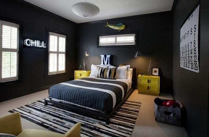 dormitorio juvenil negro