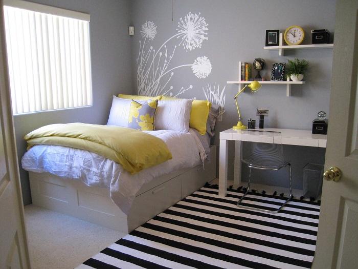 Habitación juvenil gris