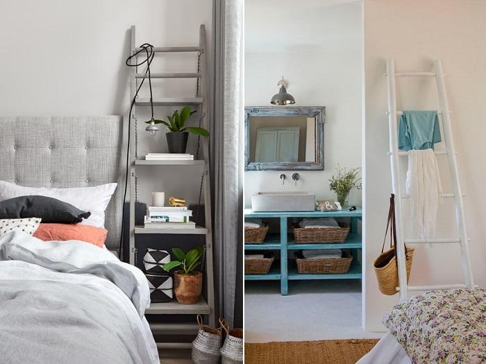 estanterías escalera dormitorio