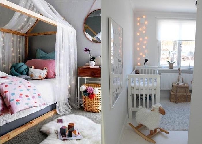 guirnaldas para el dormitorio infantil