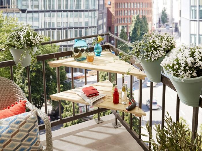 mesa balcón DIY