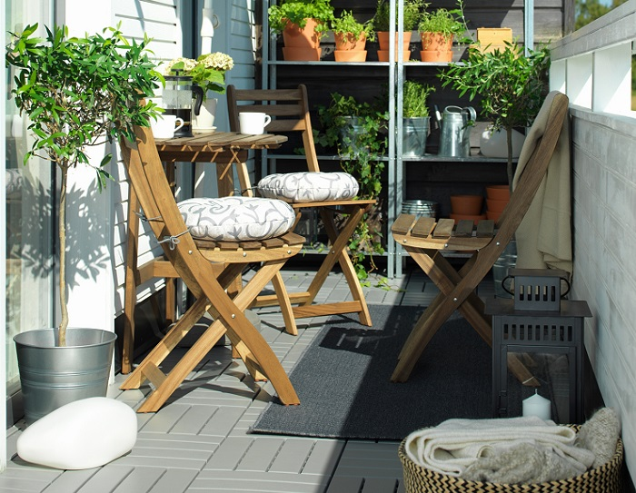 mesa para balcón ikea