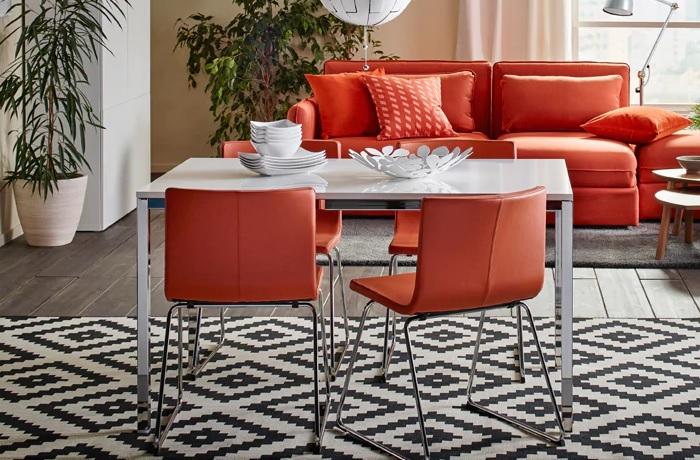 mesas de comedor ikea cromada