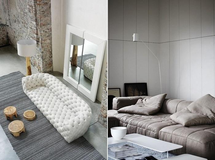 sofá acolchado