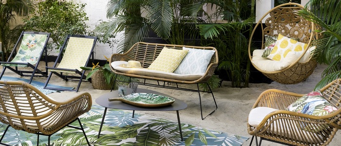 bancos de jardin moderno