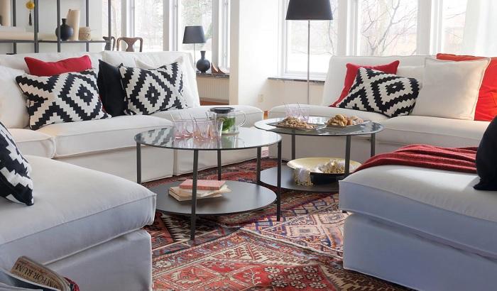 Mesas de centro de cristal para salones peque os y modernos - Mesa redonda cristal ikea ...
