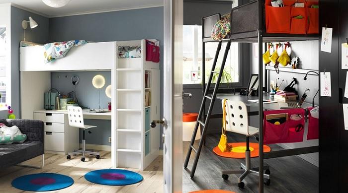 camas altas juveniles escritorio