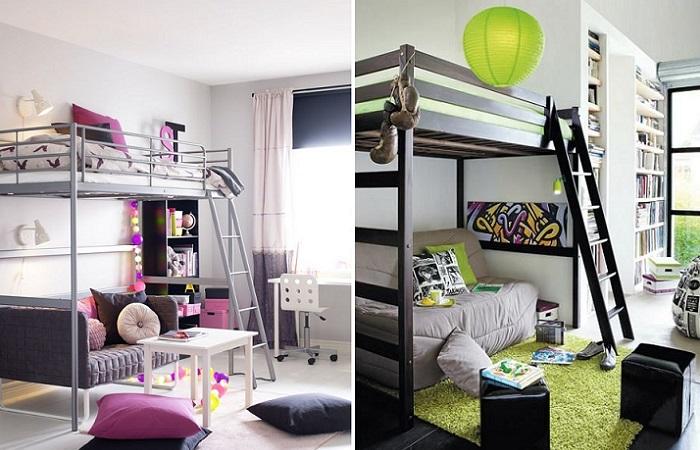 camas altas juveniles ideas