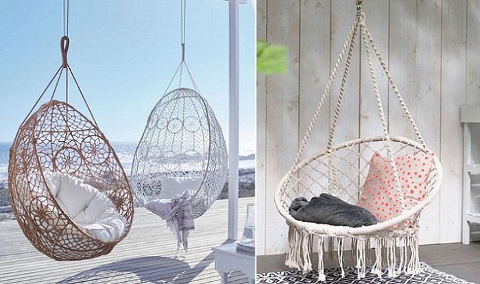 sillas colgantes jardin