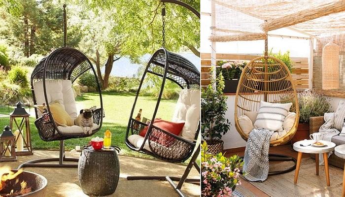 sillas colgantes terraza