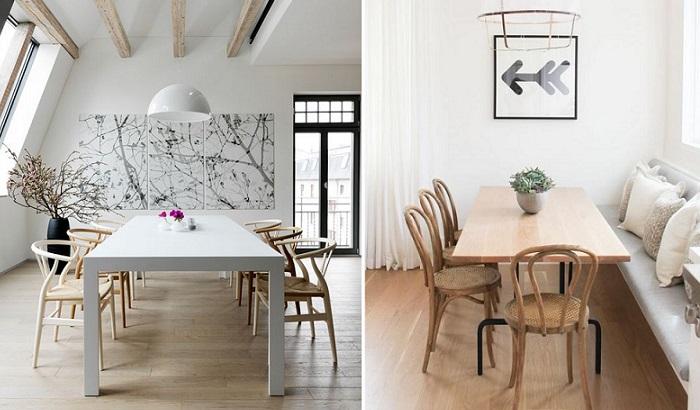sillas de comedor modernas de madera