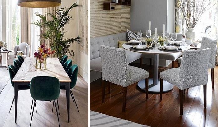 sillas de comedor modernas tapizadas