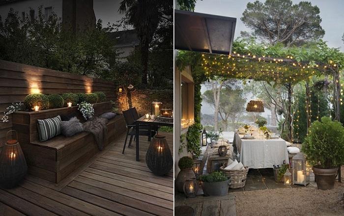 terrazas decoradas iluminacion