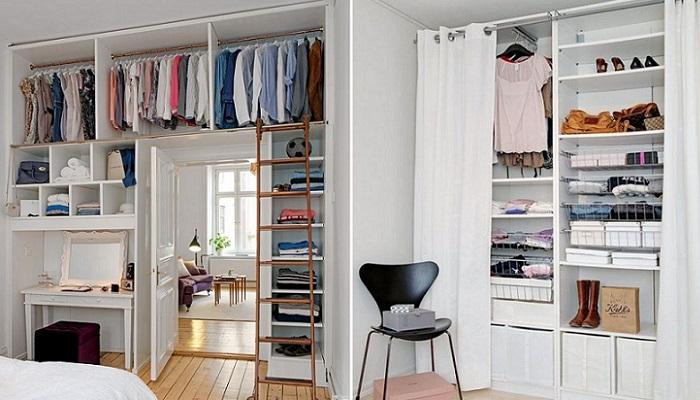 vestidores abiertos espacios pequeños