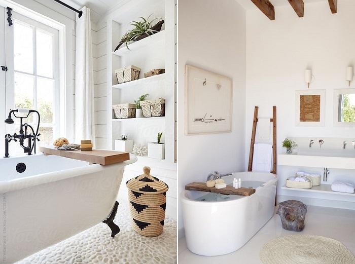 baños blancos fotos