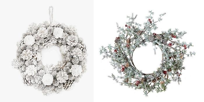coronas navideñas nevadas